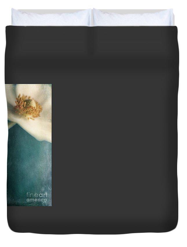 Aspen Duvet Cover featuring the photograph Dense Woods by Priska Wettstein