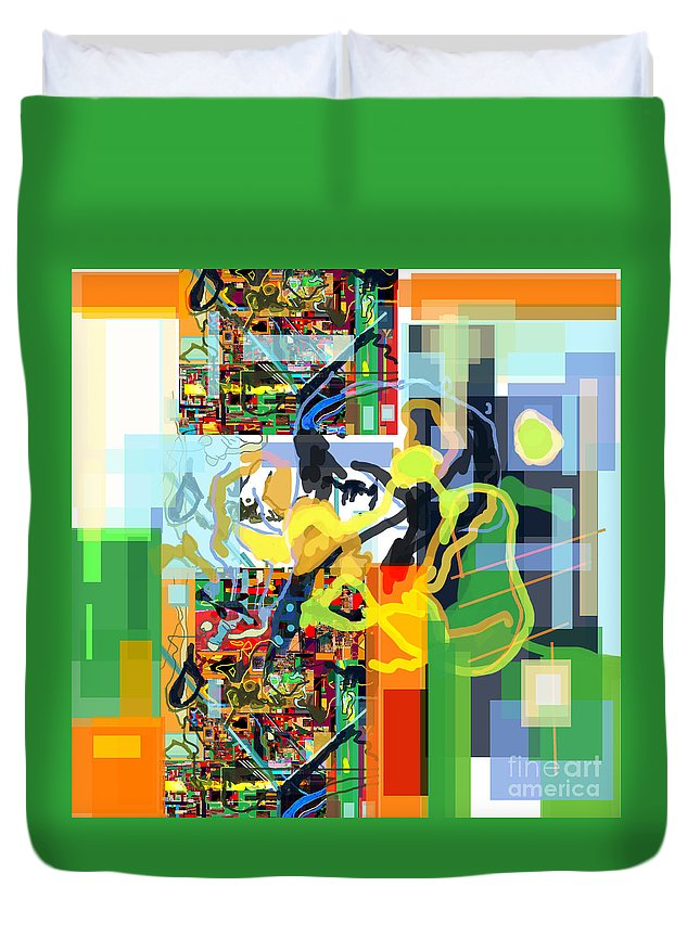 Duvet Cover featuring the digital art Daas 17f by David Baruch Wolk