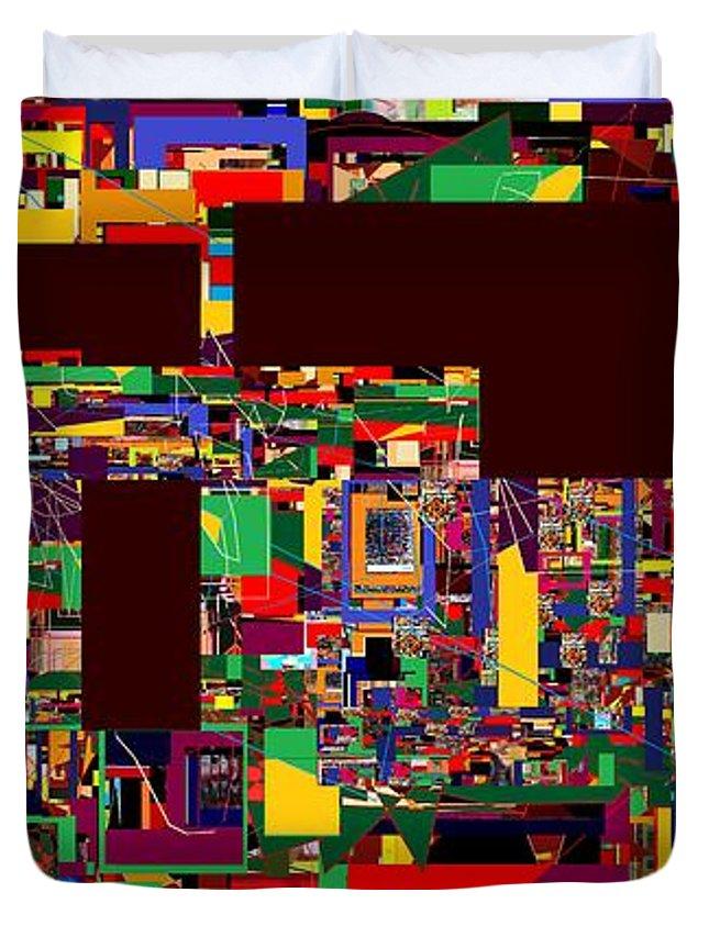 Duvet Cover featuring the digital art Daas 21 by David Baruch Wolk