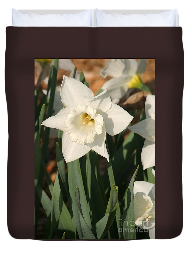 Dafodil Duvet Cover featuring the photograph Dafodil217 by Gary Gingrich Galleries