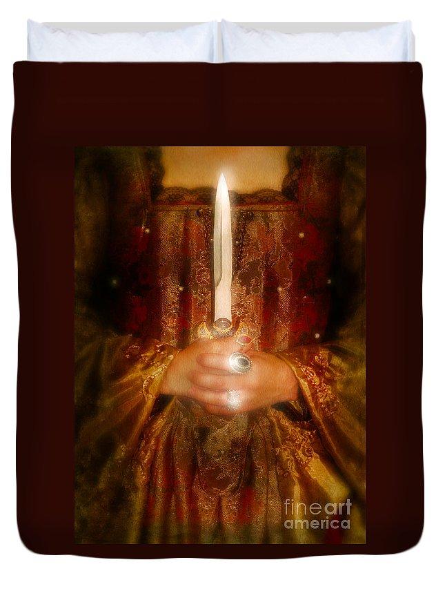 Lady Duvet Cover featuring the photograph Dagger by Jill Battaglia