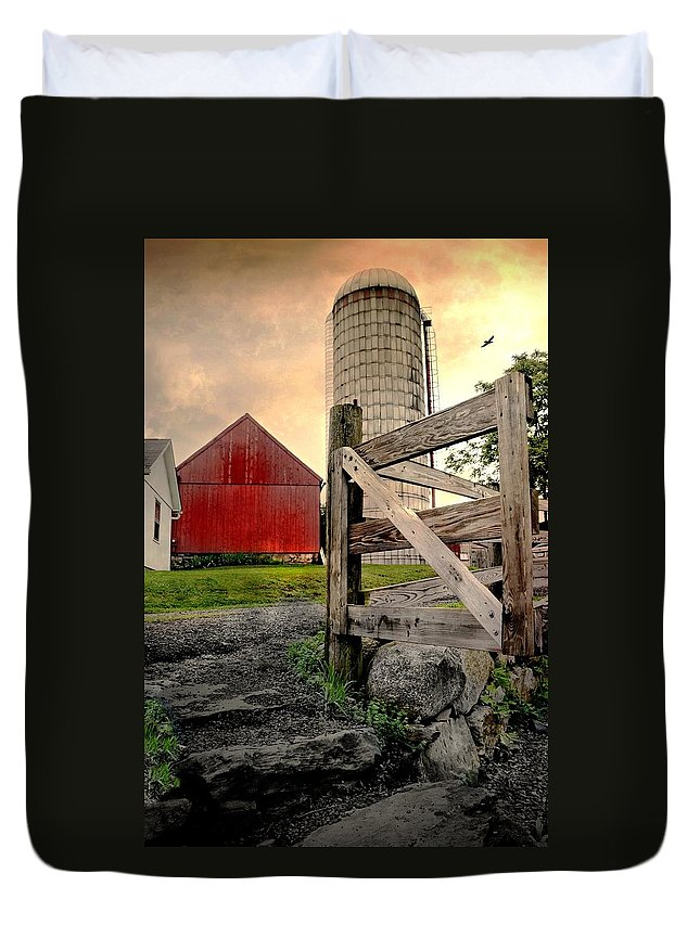Barn Duvet Cover featuring the photograph Dairy by Diana Angstadt