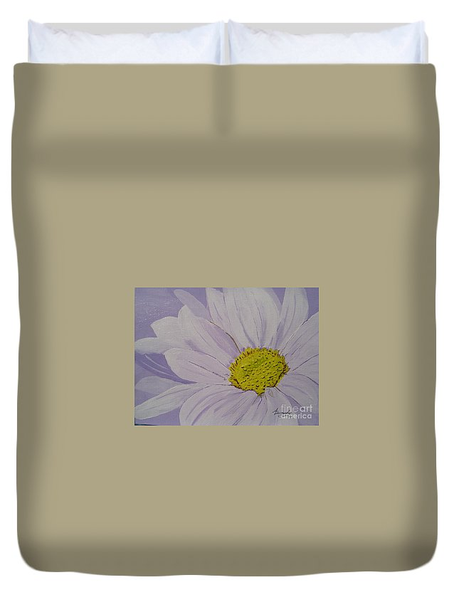 Daisy Duvet Cover featuring the painting Daisy by Anthony Dunphy