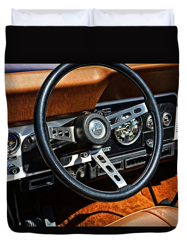 Tv Duvet Cover featuring the photograph Daisy Duke's Dixie Jeep by Mike Martin