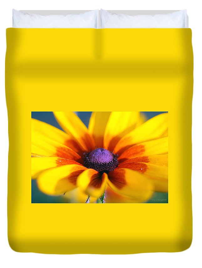 Nature Duvet Cover featuring the photograph Daisy by Kay Lovingood