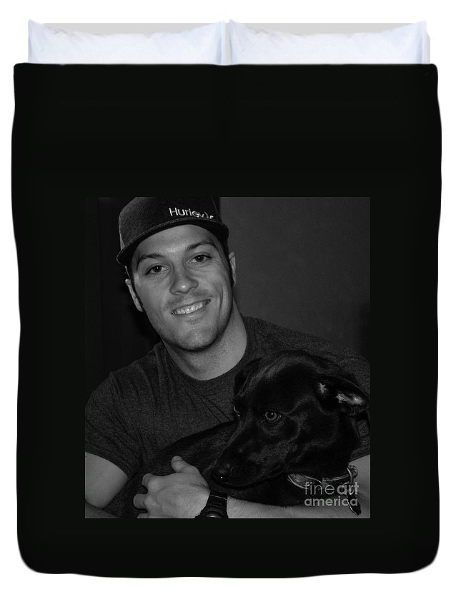 People Duvet Cover featuring the photograph Dakota And Her Boy by Toma Caul