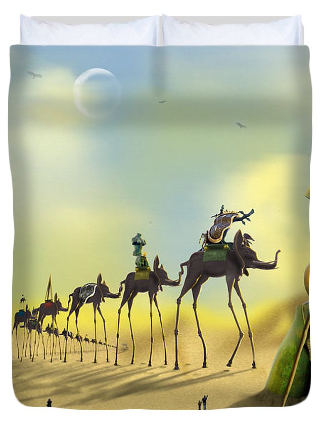 Surrealism Duvet Cover featuring the photograph Dali On The Move by Mike McGlothlen