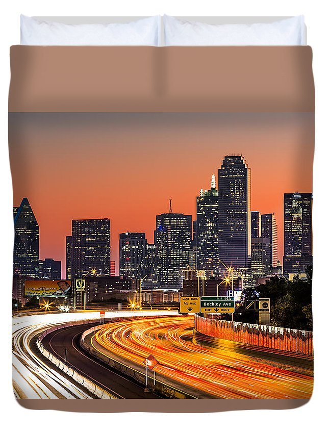 America Duvet Cover featuring the photograph Dallas Sunrise by Mihai Andritoiu