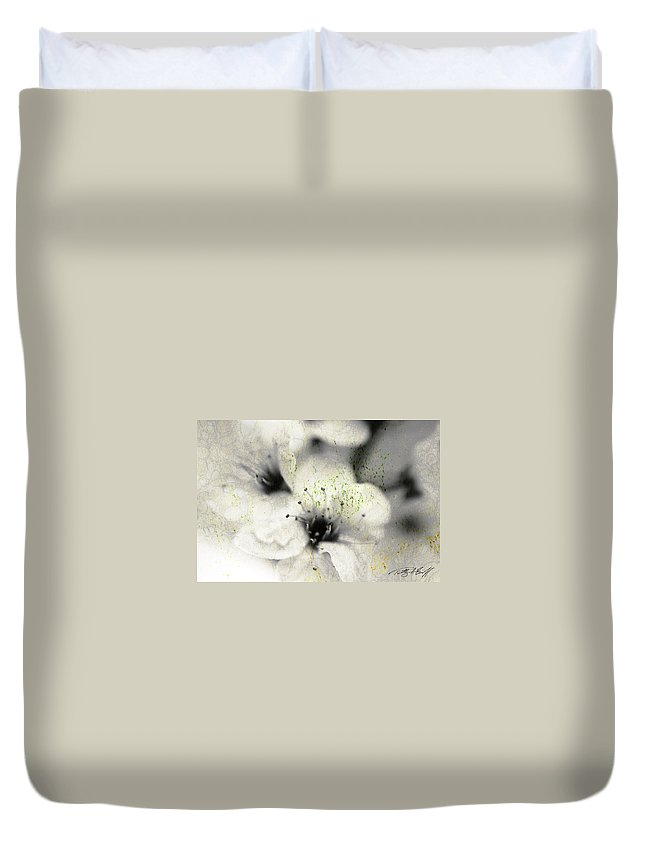 Botanical Duvet Cover featuring the photograph Damaged Blooms by Timothy Bischoff