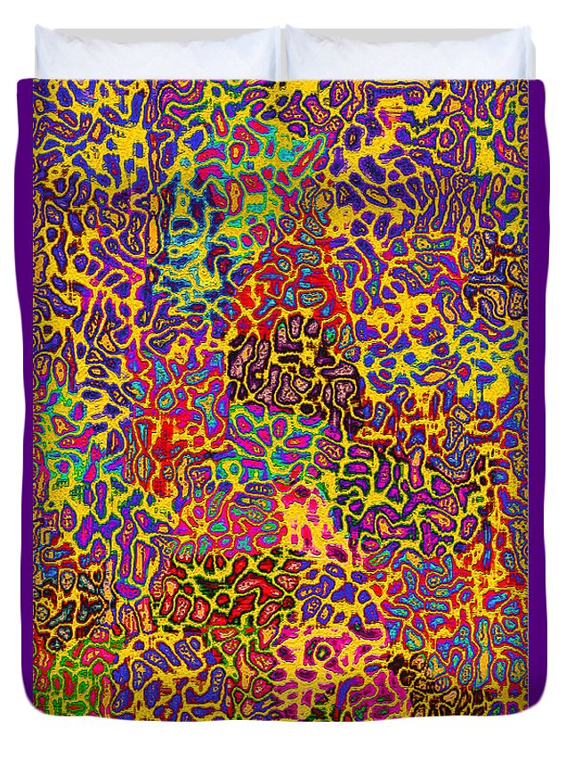 Duvet Cover featuring the painting Dance Of Life 4 by Steve Fields