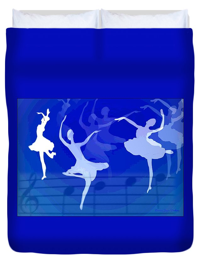 Ballet Duvet Cover featuring the photograph Dance The Blues Away by Joyce Dickens