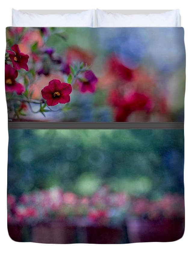 Summer Duvet Cover featuring the photograph Dancing Colours by Maria Ismanah Schulze-Vorberg