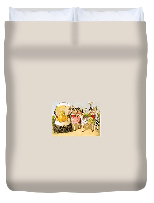 Dancing Duvet Cover featuring the photograph Dancing Girls by Munir Alawi