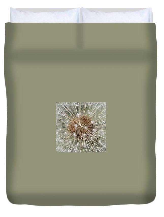 Dandelion Duvet Cover featuring the photograph Dandelion Square by Carol Groenen
