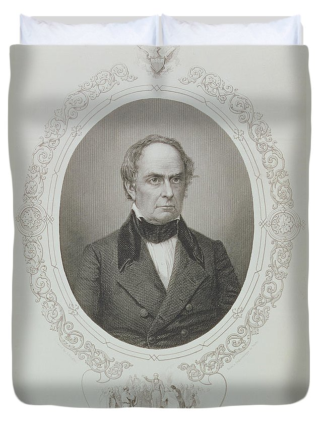 American Politician Duvet Cover featuring the photograph Daniel Webster, From The History Of The United States, Vol. II, By Charles Mackay, Engraved By T by Mathew Brady