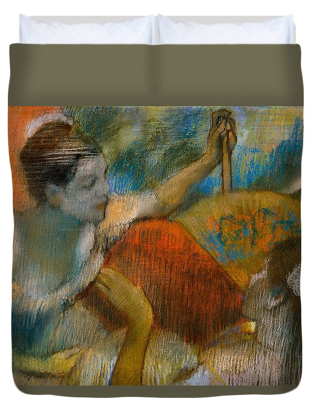 Dancer Duvet Cover featuring the painting Danseuse A L'eventail by Edgar Degas
