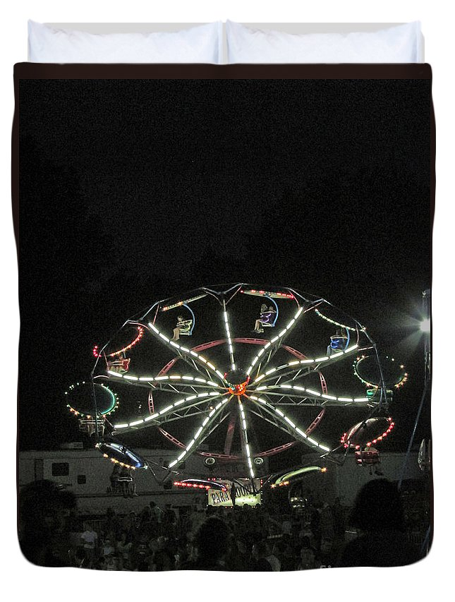 Rides Duvet Cover featuring the photograph Dark Ride by Jamie Smith