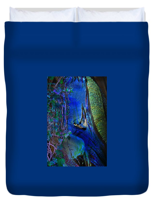 Dark River Duvet Cover featuring the digital art Dark River by Lisa Yount