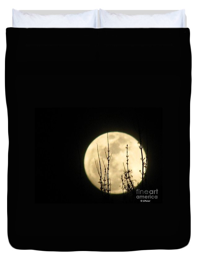 Patzer Duvet Cover featuring the photograph Dark Silhouette by Greg Patzer