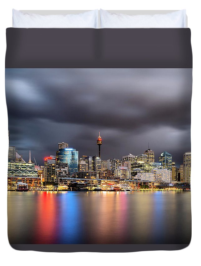 Outdoors Duvet Cover featuring the photograph Darling Harbour, Sydney - Australia by Atomiczen