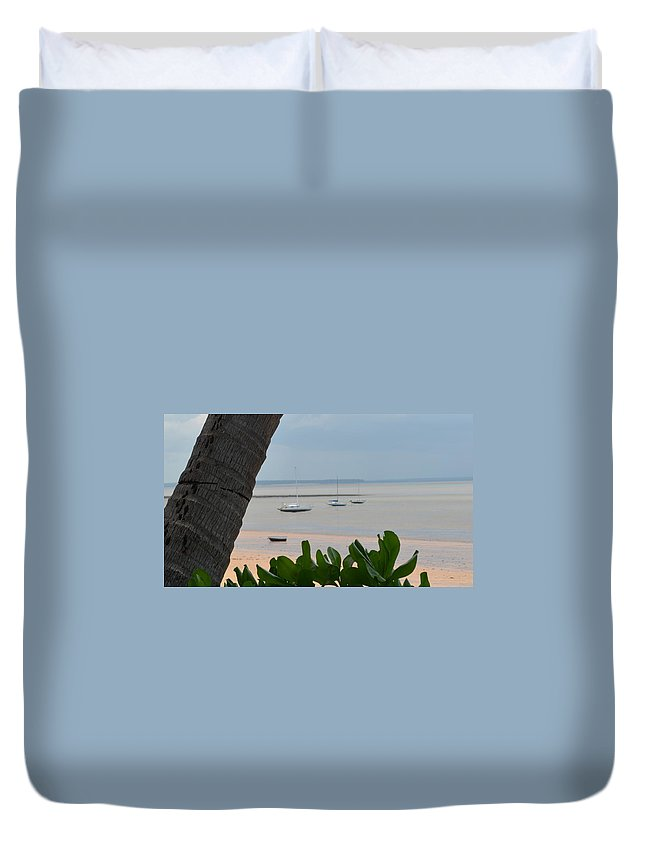 Darwin Duvet Cover featuring the photograph Fannie Bay 1.1 by Cheryl Miller
