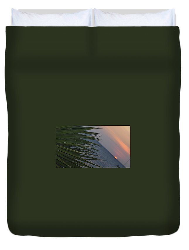 Darwin Duvet Cover featuring the photograph Fannie Bay Sunset 1.6 by Cheryl Miller