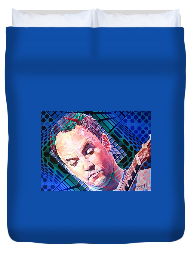 Dave Matthews Duvet Cover featuring the painting Dave Matthews Open Up My Head by Joshua Morton