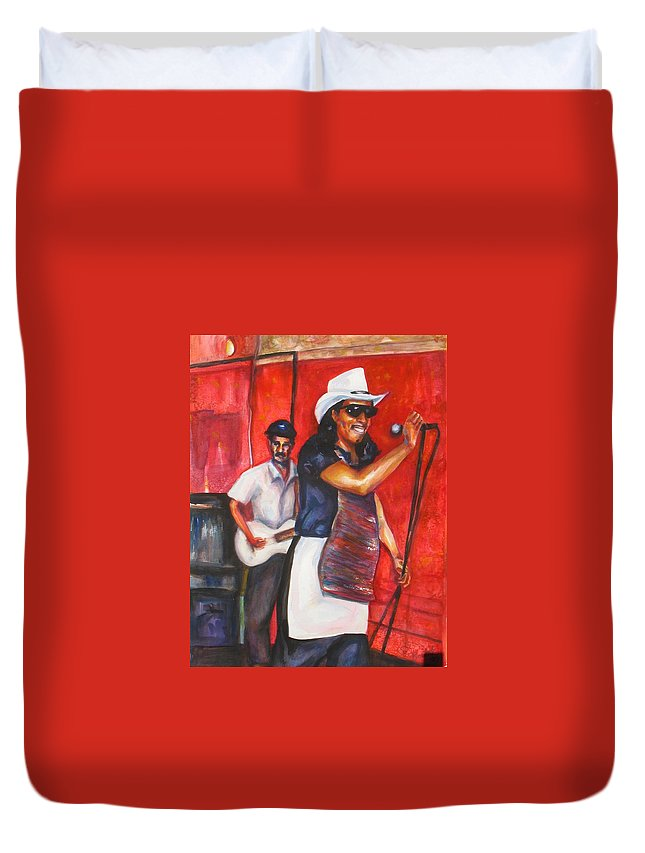 Watercolor Duvet Cover featuring the painting David And Buck by Beverly Boulet