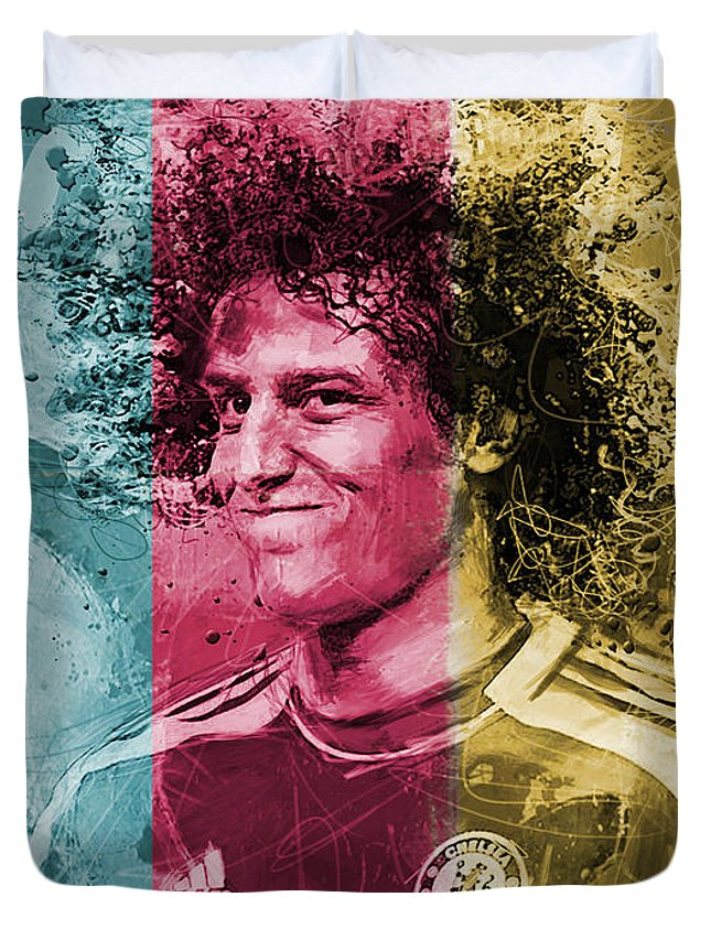 David Luiz Duvet Cover featuring the painting David Luiz - C by Corporate Art Task Force