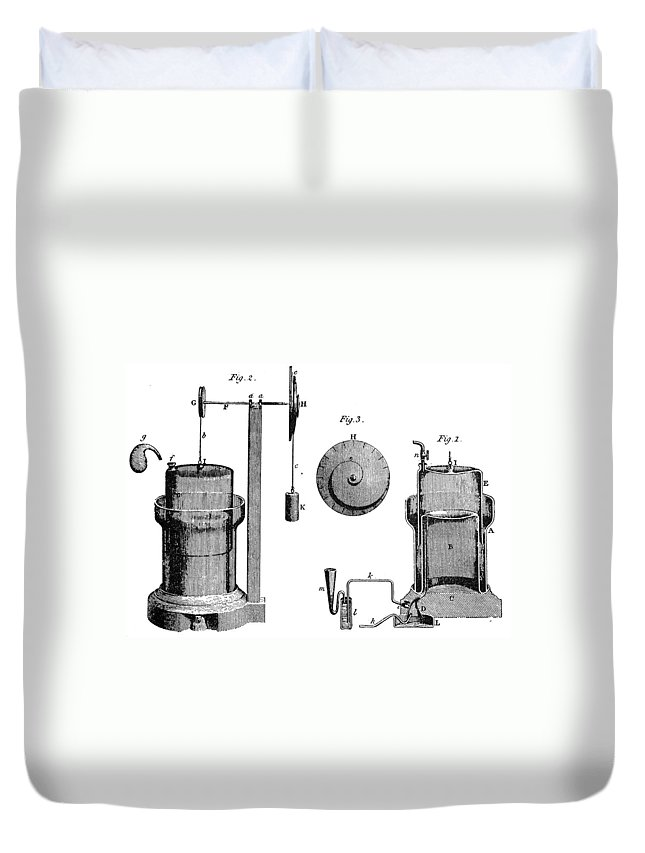 1800 Duvet Cover featuring the photograph Davy: Gas Machine, 1800 by Granger