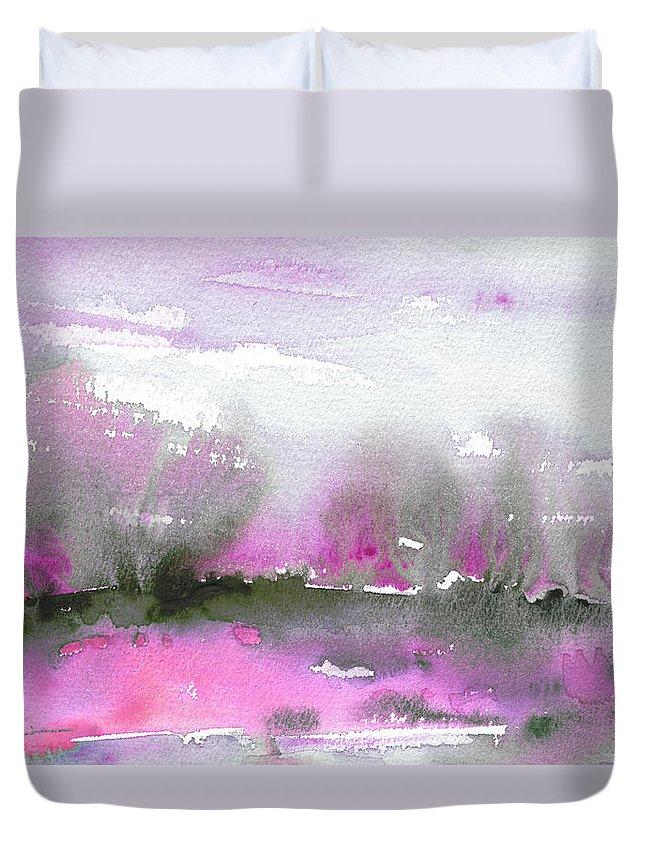 Dawn Duvet Cover featuring the painting Dawn 34 by Miki De Goodaboom