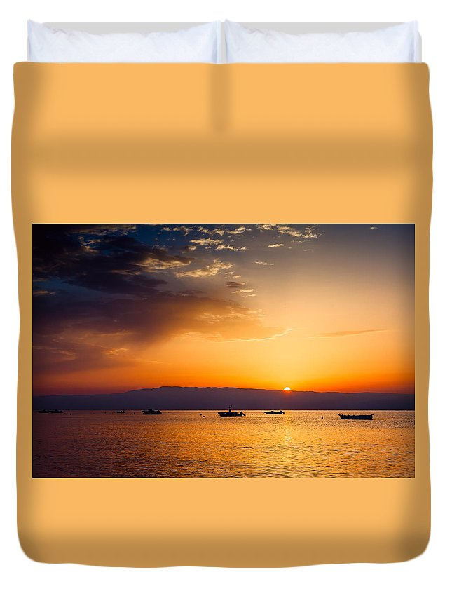 Dawn Duvet Cover featuring the photograph Dawn by Alfio Finocchiaro