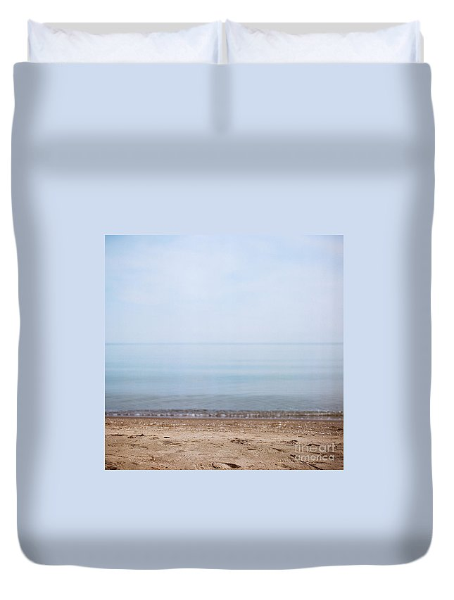 Beach Duvet Cover featuring the photograph Day At The Beach Iv by Mary Smyth
