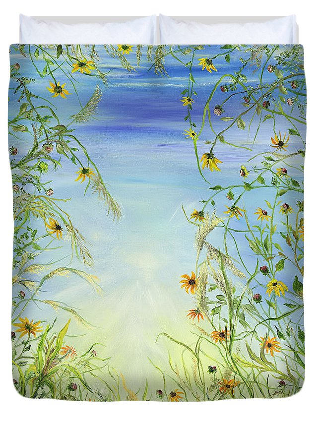 'greeting Cards Duvet Cover featuring the painting Day Dream by Regina Wirsich Roberts