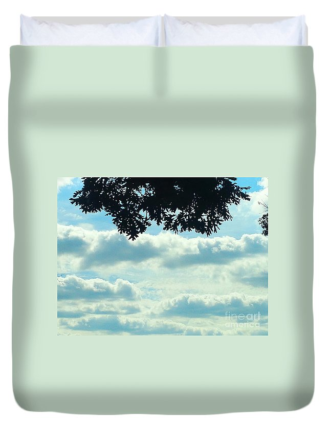 Blue Duvet Cover featuring the photograph Day Dreaming With Clouds by Jennifer E Doll