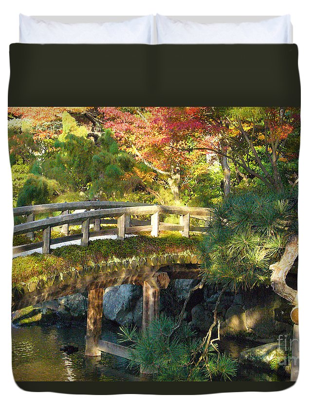 Kyoto Duvet Cover featuring the photograph Day End by To-Tam Gerwe