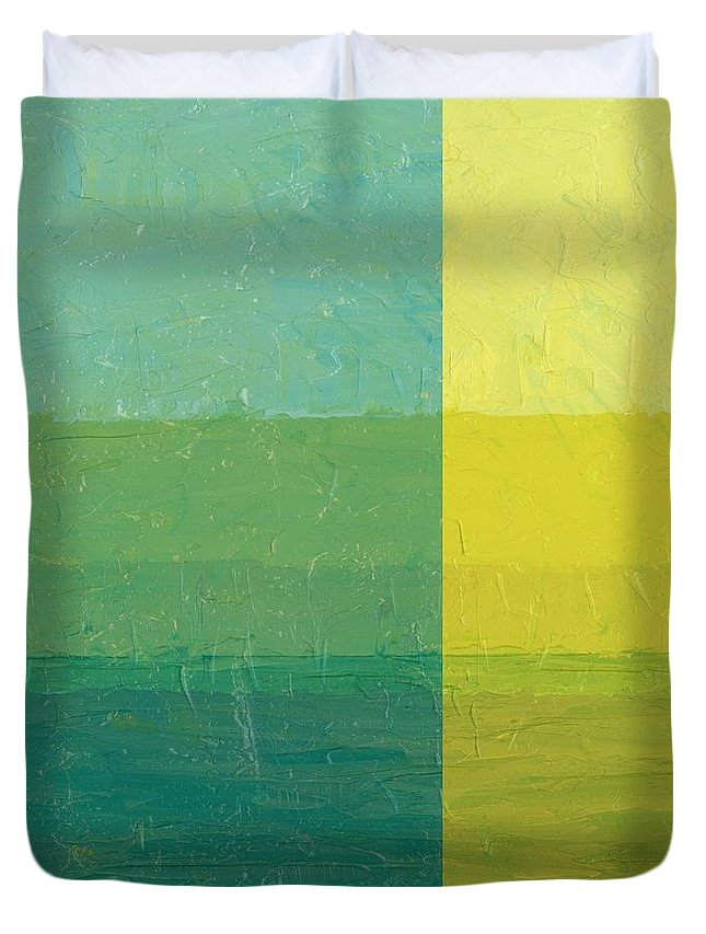 Day Duvet Cover featuring the painting Daybreak by Michelle Calkins