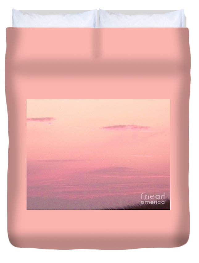 Sky Duvet Cover featuring the photograph Days End Sky At Cape May Nj by Eric Schiabor