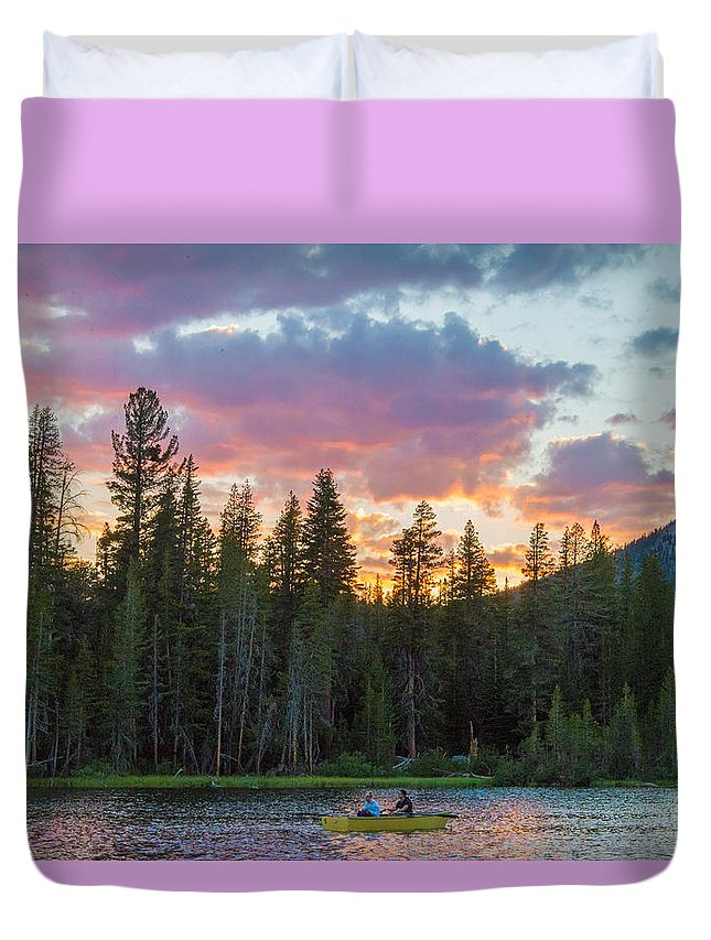 Last Duvet Cover featuring the photograph Day's Last Light by Lynn Bauer