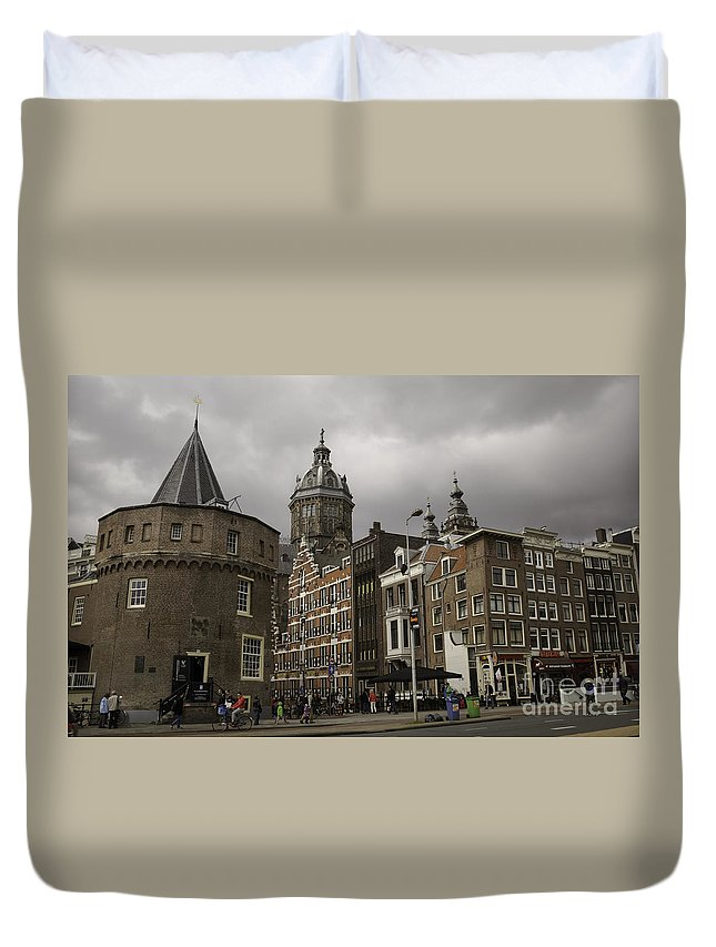 2014 Duvet Cover featuring the photograph De Schreierstoren Amsterdam by Teresa Mucha
