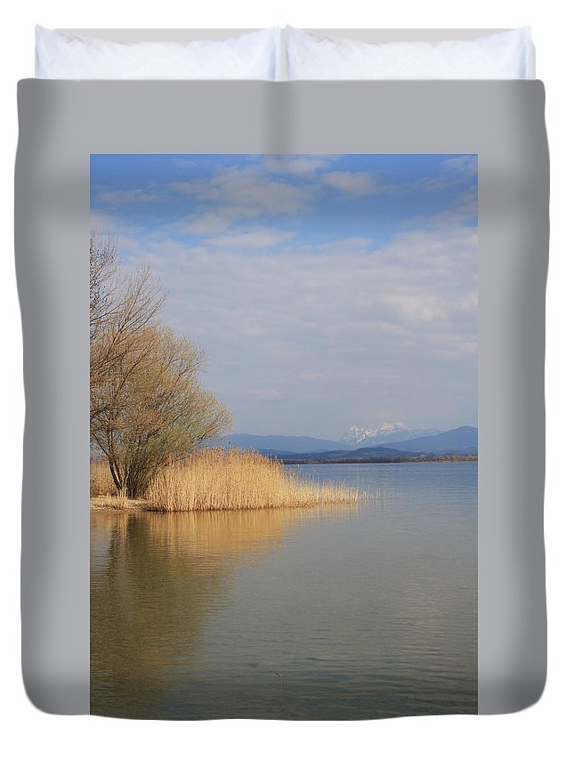 Water Duvet Cover featuring the photograph Dead Silence by Christiane Schulze Art And Photography