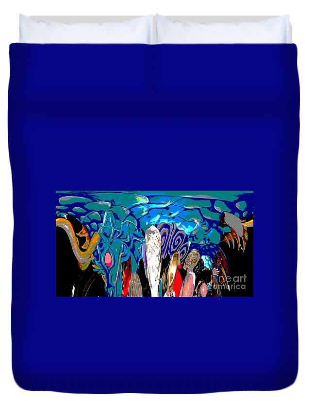 Abstract Duvet Cover featuring the photograph Dean Abstract by Marian Bell
