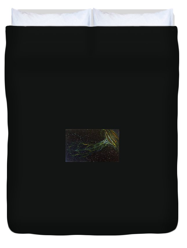 Abstract Duvet Cover featuring the painting Death Throes by Sean Connolly