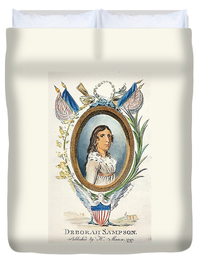 1797 Duvet Cover featuring the photograph Deborah Sampson by Granger