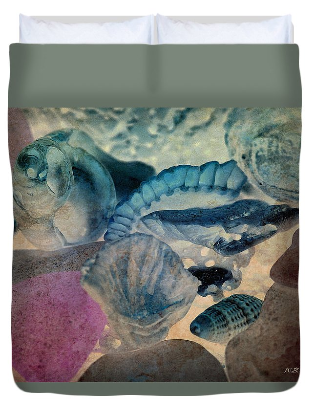 Shell Duvet Cover featuring the photograph Debris 11 by WB Johnston