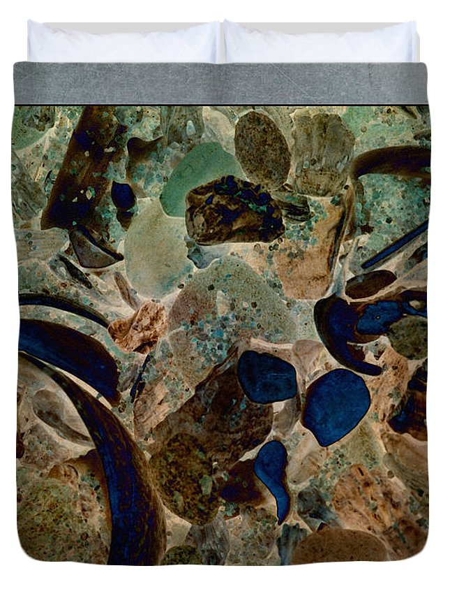 Abstract Duvet Cover featuring the photograph Debris 8 by WB Johnston