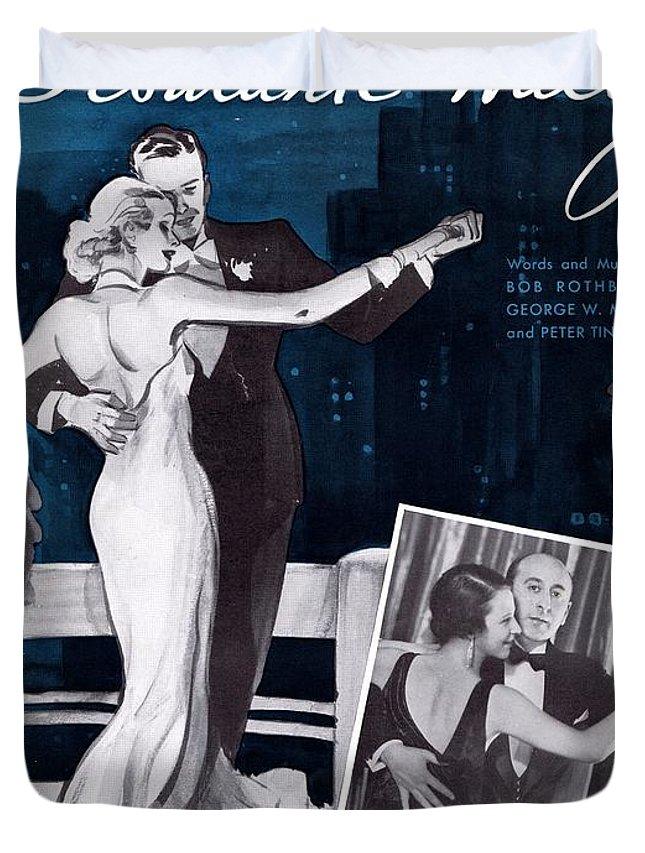 Nostalgia Duvet Cover featuring the photograph Debutante Waltz by Mel Thompson
