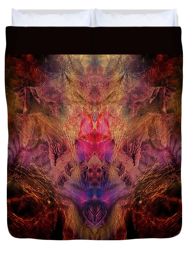 Digital Duvet Cover featuring the digital art Decalcomaniac Mirror by Otto Rapp
