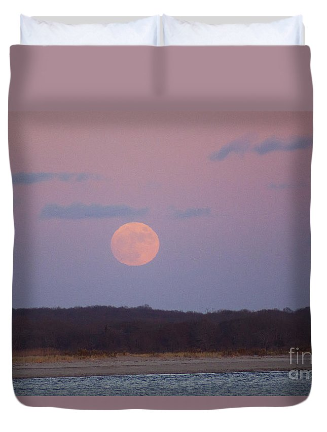 Moon Duvet Cover featuring the photograph December Moon by Joe Geraci