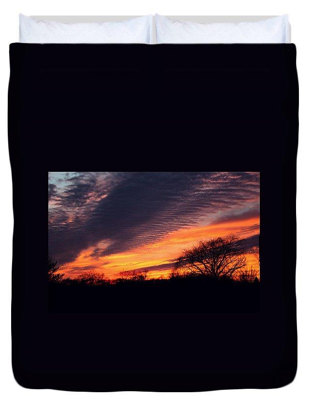 Sunset Duvet Cover featuring the photograph December Sunset by Dan McCafferty